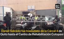 Imágenes del traslado de Daniel Salcedo desde la Cárcel 4 de Quito al centro penitenciario de Cotopaxi