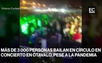 Miles de personas asistieron a un concierto en Otavalo a pesar de la pandemia