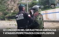 Agentes élite y canes rastrean amenazas y ataques con explosivos en Ecuador