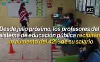 EL COMERCIO te explica el aumento de sueldo a los profesores